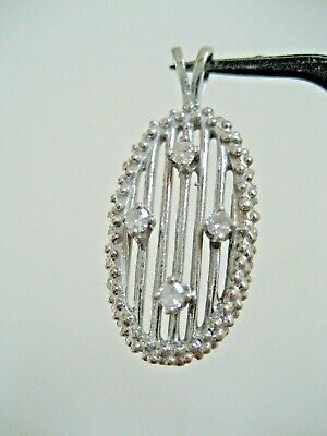 Vintage 14 K White Gold And Diamond Pendant