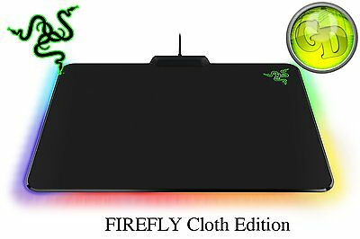 RAZER FIREFLY CLOTH EDITION Chroma RGB Gaming Mouse Mat RZ02-02000100-R3M1  SALE