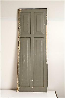 Vintage WOOD PANEL paneled cabinet door shutter architectural salvage farm house
