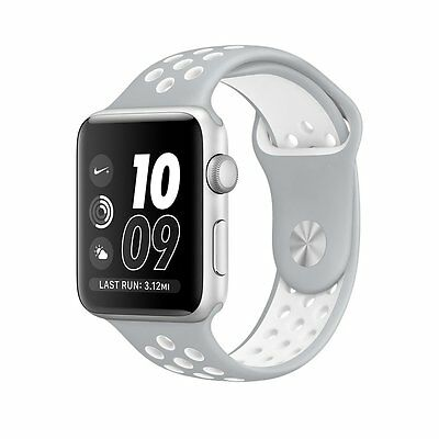 Silver White New Style Sports Silicone Bracelet Strap Band For Apple Watch 42mm