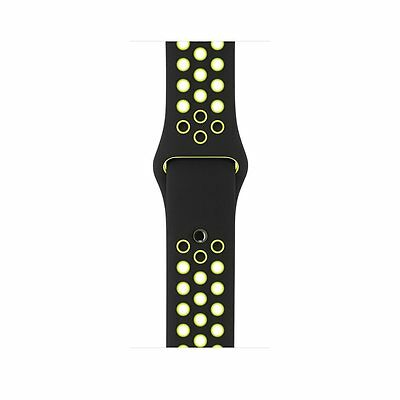 Black Yellow New Style Sports Silicone Bracelet Strap Band For Apple Watch 38mm