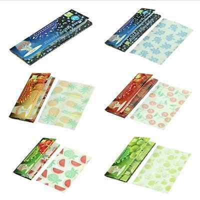 250 Leaves DIY 5 Fruit Flavored Smoking Cigarette Hemp Tobacco Rolling Papers FT