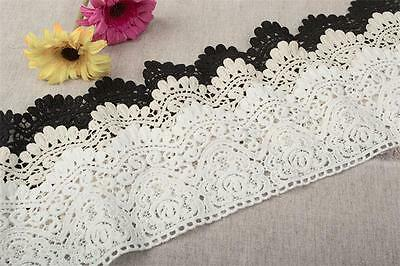 Vintage Crochet Lace Edge Trim Ribbon Bridal Sewing DIY Embroidered Craft