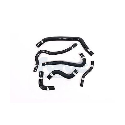 Forge 6 Black Silicone Ancillary Coolant Hoses&Stainless Clamp Civic Type R FK2