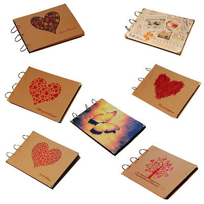 New Kraft Paper DIY Memories Book Scrapbook Photo Album Vintage Mexican Gift