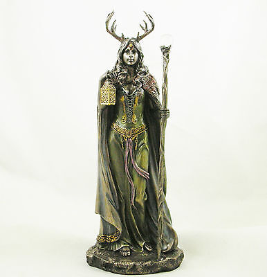 Wicca Elen of the Ways Witch Statue Keeper of the Forest Witchcraft Figurine NEW