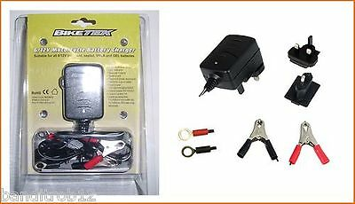 Biketek 6V 12V Motorcycle Battery Trickle Charger with Auto Cut Off