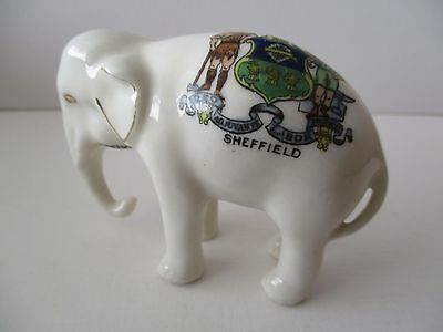 Arcadian Crested Ware Elephant - Sheffield Crest