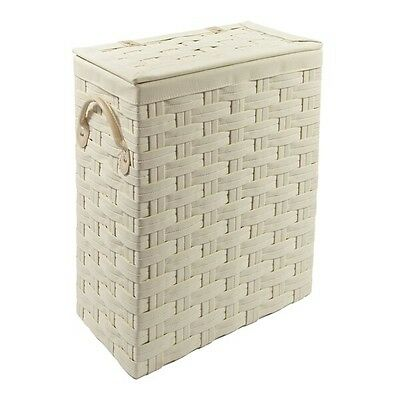 white hamper clothes storage wooden chest with lid laundry. Black Bedroom Furniture Sets. Home Design Ideas
