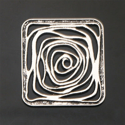 Square Flowers Tibetan Silver Crafts Jewelry Findings Connectors  New Alloy