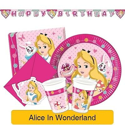 DISNEY ALICE IN WONDERLAND - Birthday PARTY RANGE (Invitations, Tableware etc)