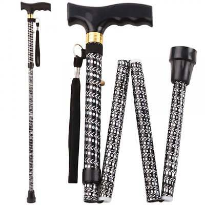 Aidapt Extendable Plastic Handled Walking Stick with Engraved Pattern