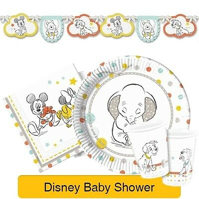 DISNEY BABY SHOWER - PARTY RANGE (Mickey Mouse/Dumbo/Winnie The Pooh)
