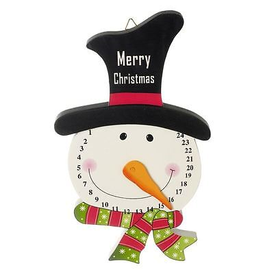Wooden Christmas Snowman Advent Countdown To Christmas