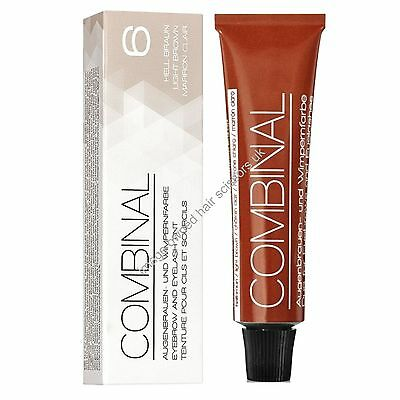 Combinal Eyelash & Eyebrow Tint Colour Dye LIGHT BROWN 15ml