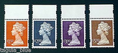 GB Stamps 1999 sgY1800-03 High Value Machin Definitives - U/M