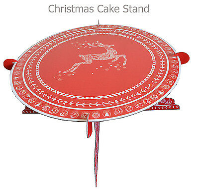 Christmas Cake Stand Holder 1 Tier Cardboard Cup Cake Food Stand Xmas
