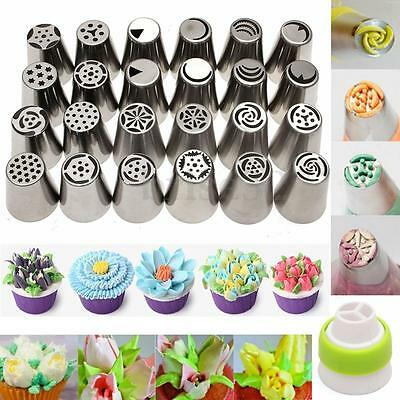 15 Russian Tulip Rose Icing Piping Nozzles Tips Cake Decorating Baking Tool Set