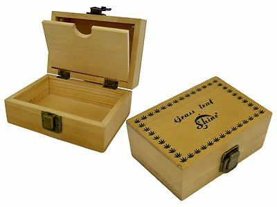 Grassleaf Wooden Rolling Box Roll Box Smoking Stash Medium,shine