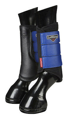 New lemieux Prosport mesh brushing boots Benetton Bluel and black size XL