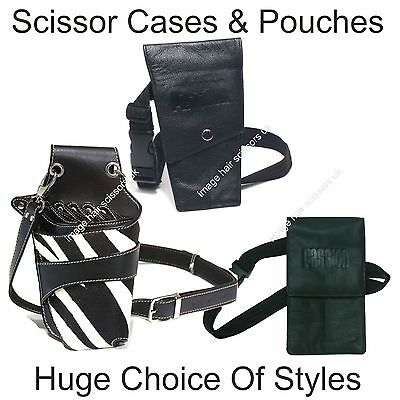 Scissors Holder For Hairdressers Barbers Salon HUGE CHOICE Leather Cases PASSION