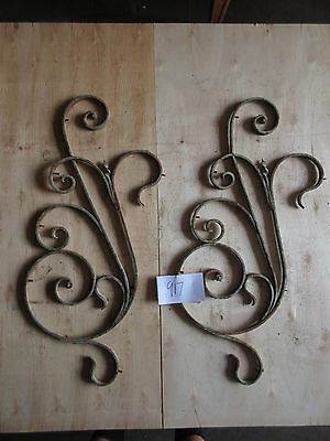 Antique Victorian Iron Gate Window Garden Fence Architectural Salvage #917