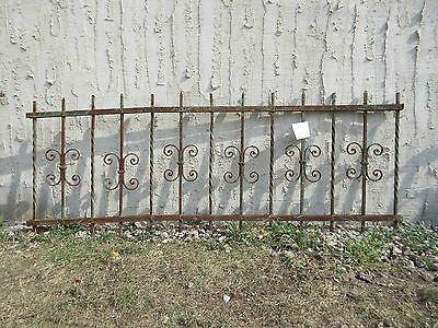 Antique Victorian Iron Gate Window Garden Fence Architectural Salvage #924