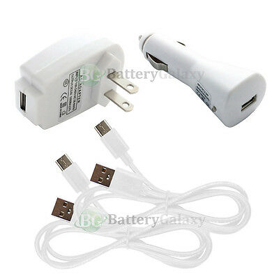 2 USB Type C Cable+Car+Wall Home Charger Plug for Phone Google Pixel / Pixel XL