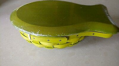 Longaberger Celadon Green Small Fish Basket complete with protector & Lid MINT!