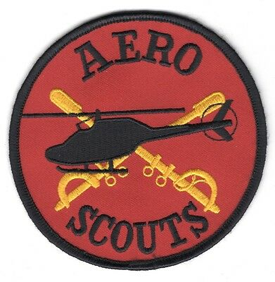Army Patch:  Aero Scouts - red