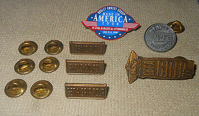 Harley Davidson Hog Get A Grip '99 - Made In America Tour 2000 Pins Lot