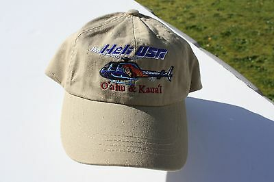 Ball Cap Hat - Heli USA - Helicopter - Oahu Kauai Hawaii (H1672)