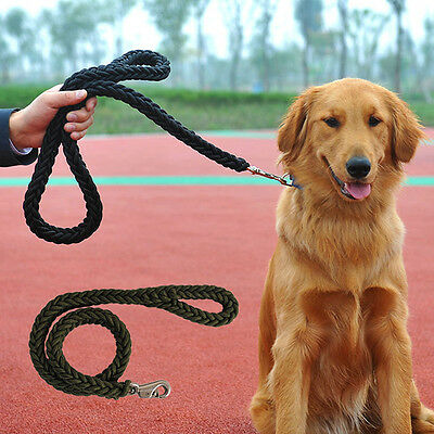 Pet Dog Durable Braided Lead Leash Walking Control Collar Traction Rope Strap