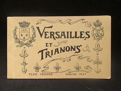 Versailles et Trianon Early 1900s Complete Original Photo Postcard Booklet