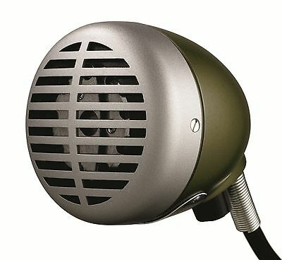 New Shure 520Dx Harmonica Microphone Green Bullet Pro.brand New In Box Sale