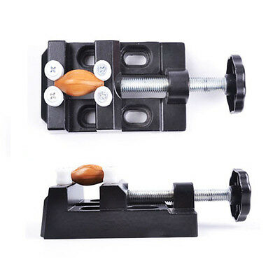 Mini Table Top Bench Vice Vise Press Clamp Hand Micro Clip Flat Carving AU