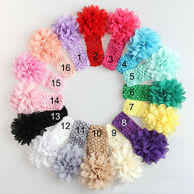 10PCS Baby Headband Toddler Infant Flower Hair Bow Band Accessories Head Piece