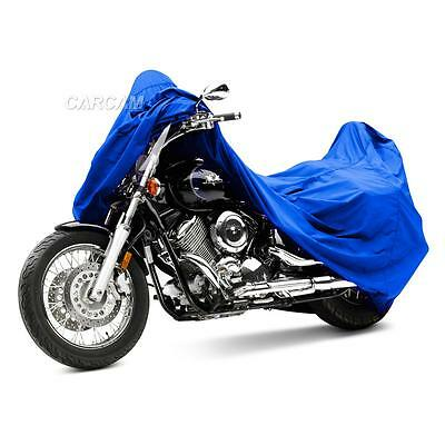 Blue Motorcycle Bike Travel Storage Cover Shelter Fit Honda CBR 250R 929 954 RR
