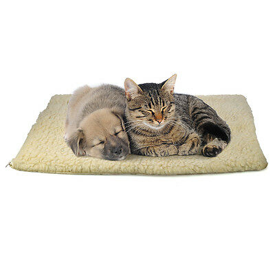 Large Cat Dog Self Heating Thermal Bed Animal Warm Rug Puppy Mat Soft Winter UK