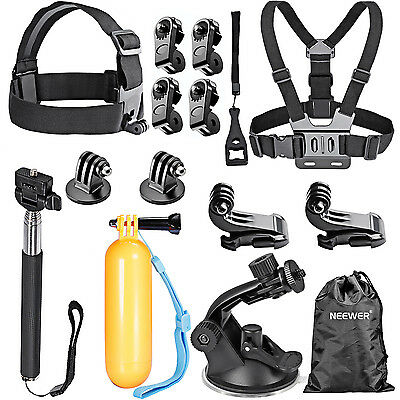 Neewer 16 in-1 Outdoor Sport Accessory Kit Chest Strap for GoPro Hero 4 3+ 3 2 1