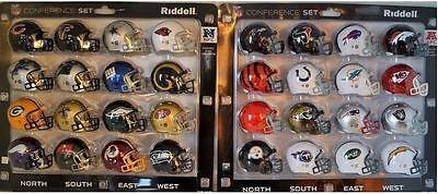 NFL Riddell American Football Pocket Pro Revolution 32 Helmets OLD VERSION