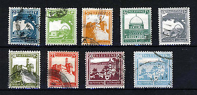 PALESTINE 1927 to 1945 British Mandate Part Set SG 90 to SG 102 VFU