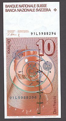 SWITZERLAND Schweiz Suisse 10 Francs 1991 UNC