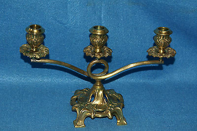 DEPOSE Bronze Art Nouveau or Arts & Crafts Era Candelabra Made in France