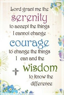 THE SERENITY PRAYER GLASS PLAQUE 100's OF RELIGIOUS INSPIRATIONAL ITEMS LISTED