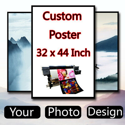 Custom Poster Design 32 x 44 inch Printing Thin Silk Fabric (Not with frame)