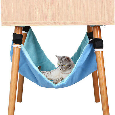 Blue Under Chair Cat Hammock Blanket Small Hanging Soft Bed Sheet Pets • EUR 4,39