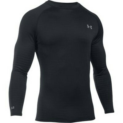 Under Armour 1281082 Men's Black Base 4.0 Long Sleeve Crew Shirt - Size Large