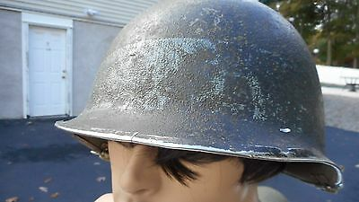 US WWII Front Seam Swivel Bale M1 Wartime Helmet With Liner Stamped USA