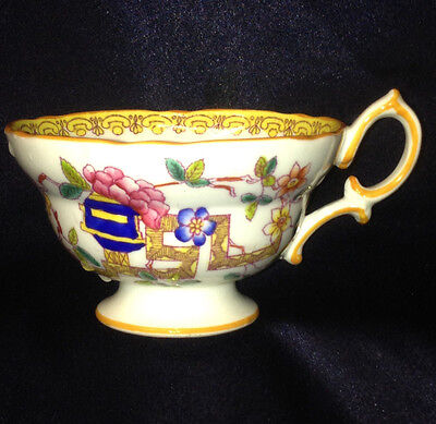 Hammersley Ham12 Old Country Footed Cup 6 Oz Pink & Blue Flowers Orange Trim